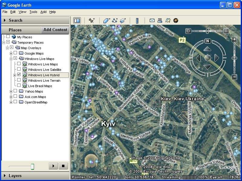 Map overlays for Google Earth – Earth Map Online