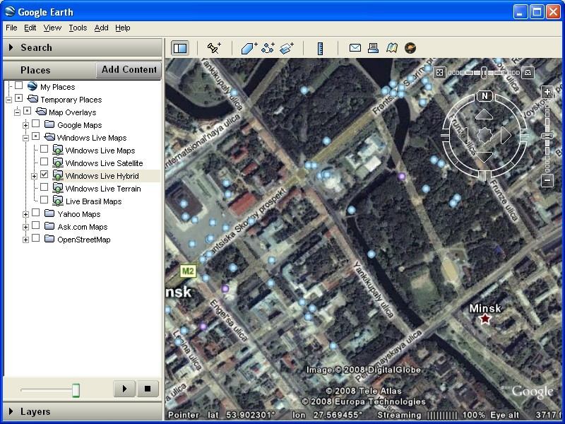 Map Overlays For Google Earth - World satellite images live